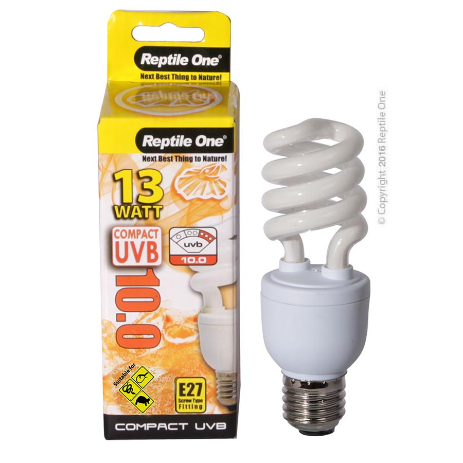 Reptile One Compact UVB Bulb 13W UVB 10.0 E27 Fitting