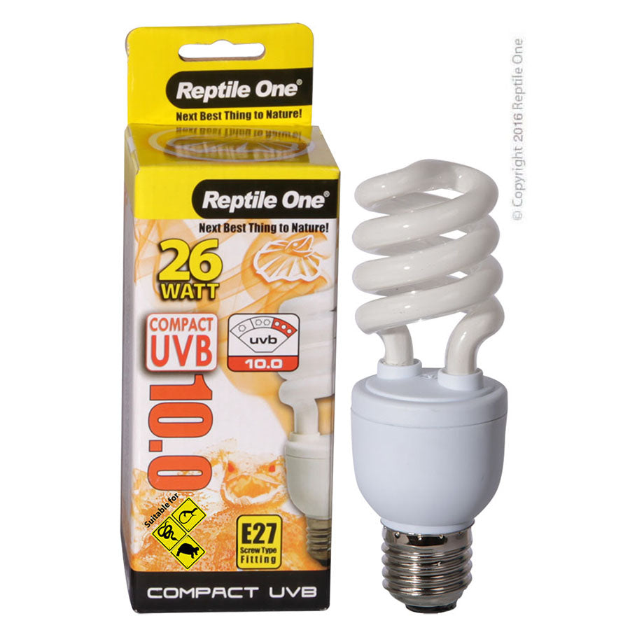 Reptile One Compact UVB Bulb 26W UVB 10.0 E27 Fitting