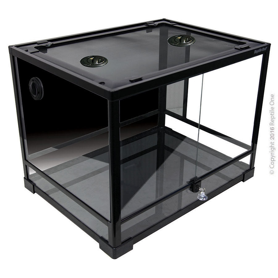 Reptile One RTF-600H Glass Hinged Doors Terrarium - 60l x 45d x 45cm h