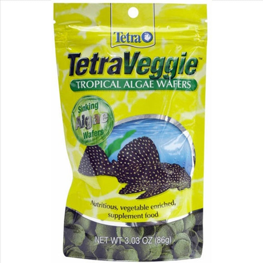 Tetra Pleco Wafers 86g - Algae Enriched with Zucchini