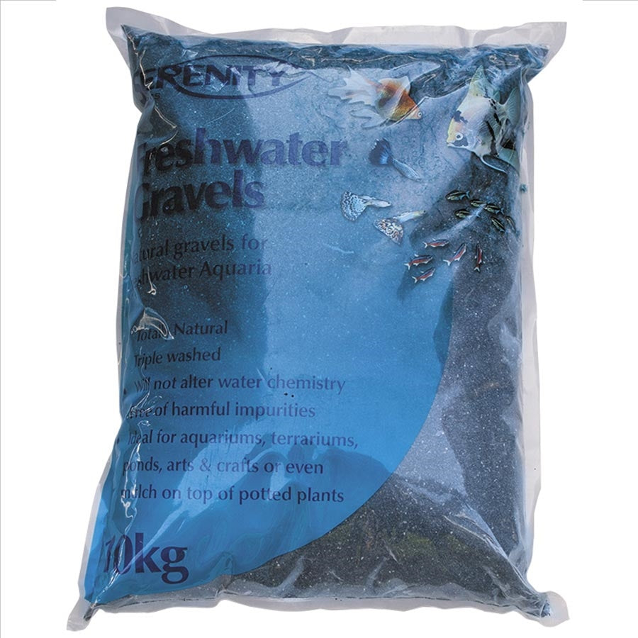 Serenity Freshwater Gravel Diamond Black 10kg