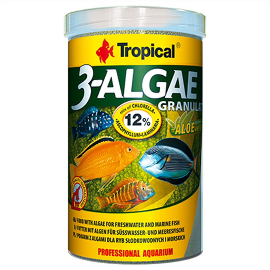 Tropical 3-Algae Adhesive 5mm Tablets 36g for all Fish Food
