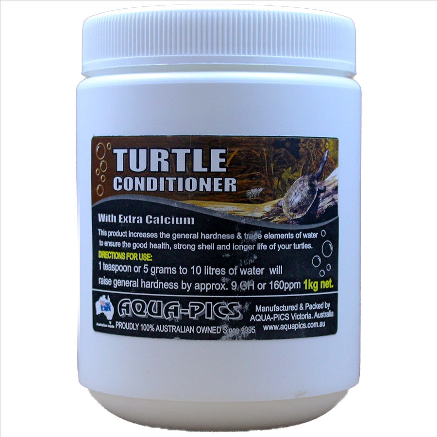 Aqua-Pics Turtle Conditioning Crystals 1kg With extra Calcium for strong Shell Development.