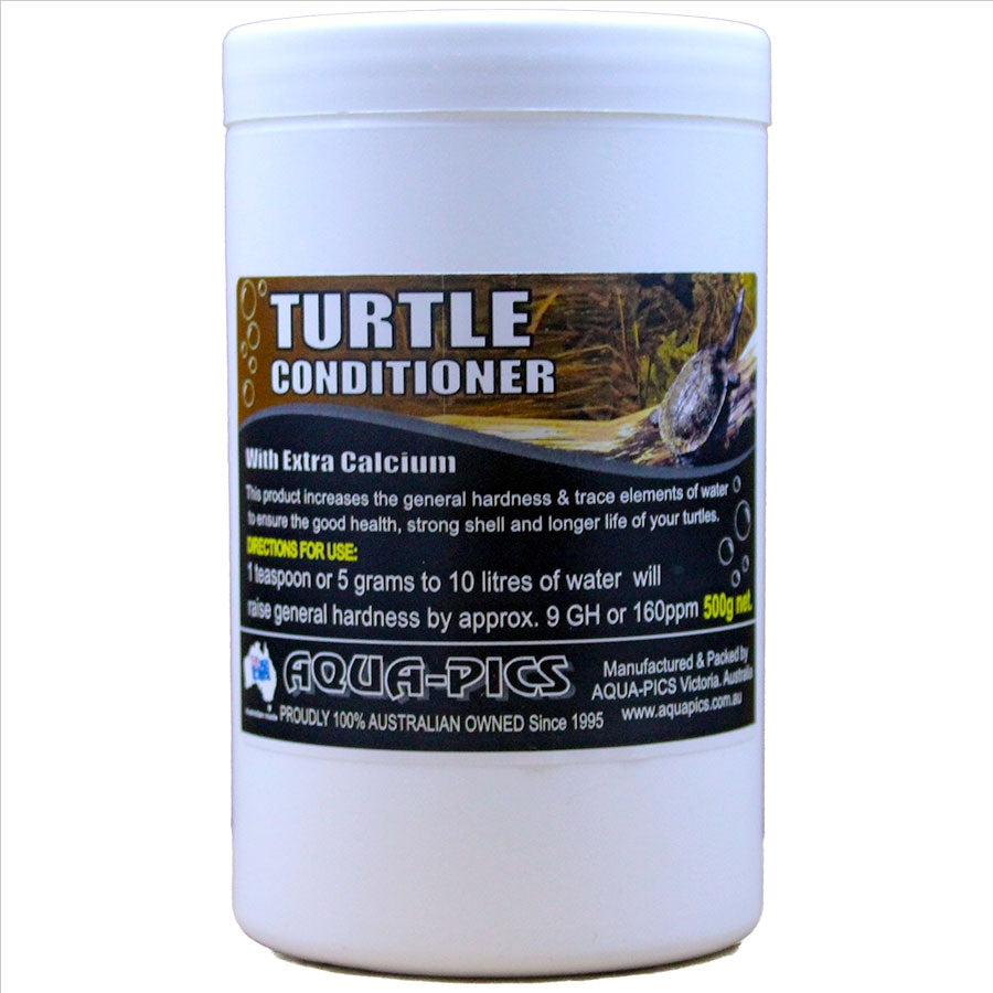 Aqua-Pics Turtle Conditioning Crystals 500g With extra Calcium for strong Shell Development.