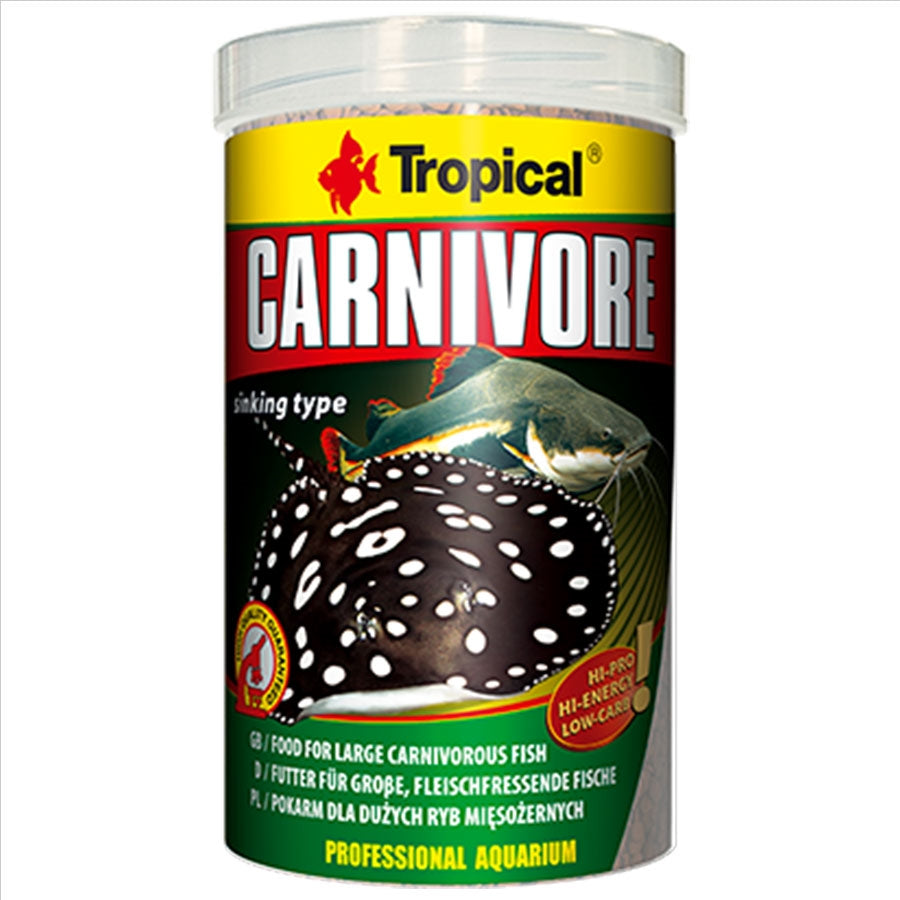 Tropical Carnivore Tablets 5mm Tablet 1000ml 600g Pellet Fish Food