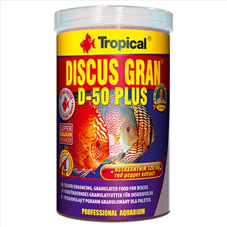 Tropical Discus Gran D-50 1.25mm Pellet 110g 250ml Fish Food