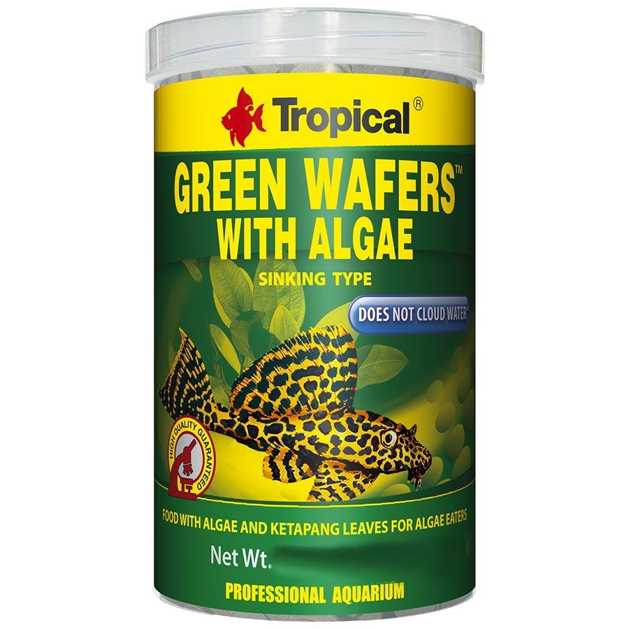 Tropical Green Algae 10mm Wafers 1000ml 450g Sinking  Fish Food