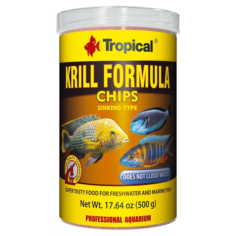 Tropical Krill Chips 2mm Sinking 1000ml 500g Fish Food