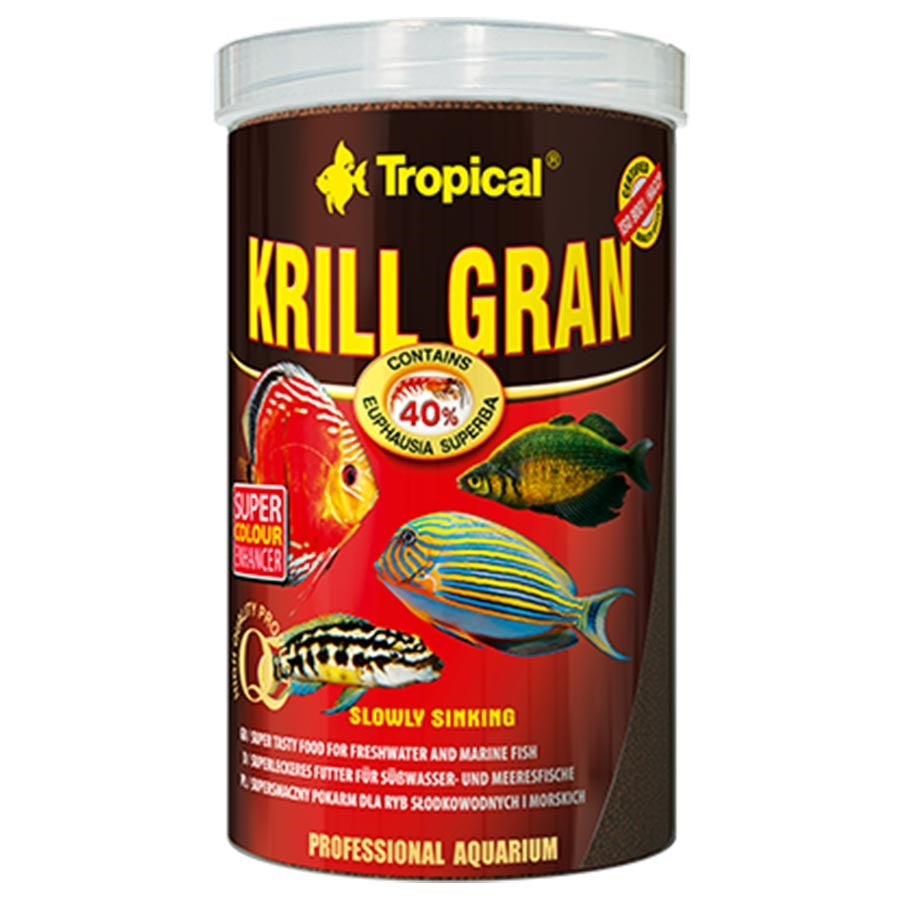 Tropical Krill Gran 1.2mm Sinking 1000ml 540g Granulat Fish Food