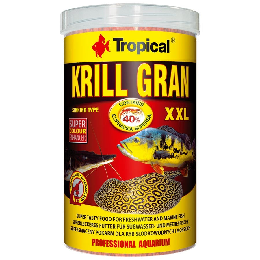 Tropical Krill XXL 3mm Tablet Sinking 1000ml 500g Granulat Fish Food