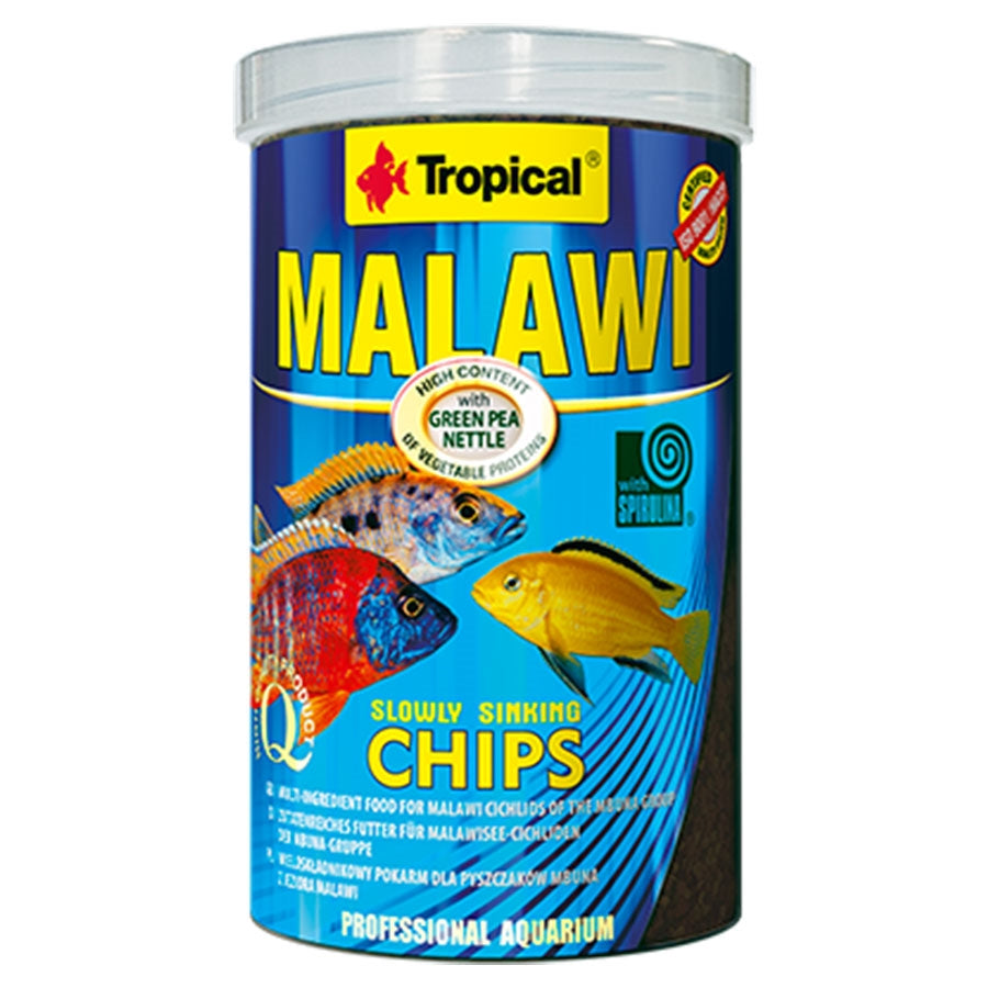 Tropical Malawi Chips 1.5mm Sinking 250ml 130g Fish Food