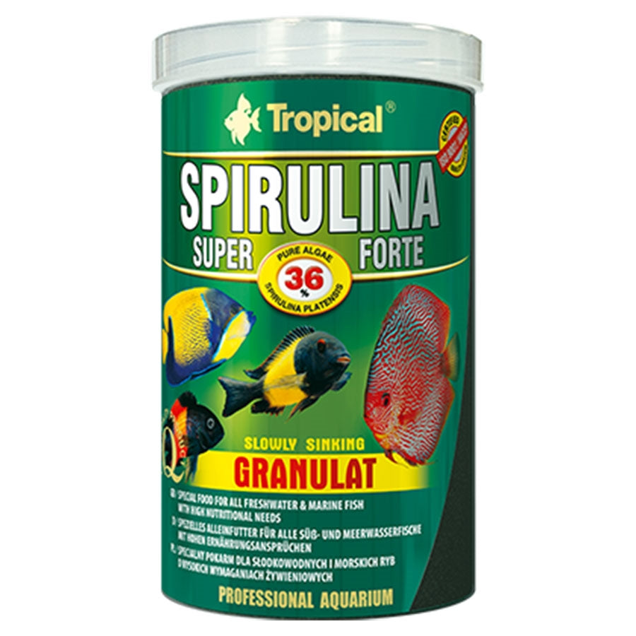 Tropical Super Spirulina Forte 2mm Granulat 250ml 150g Fish Food