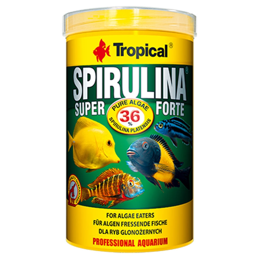 Tropical Super Spirulina Forte Flake 1000ml 200g Fish Food