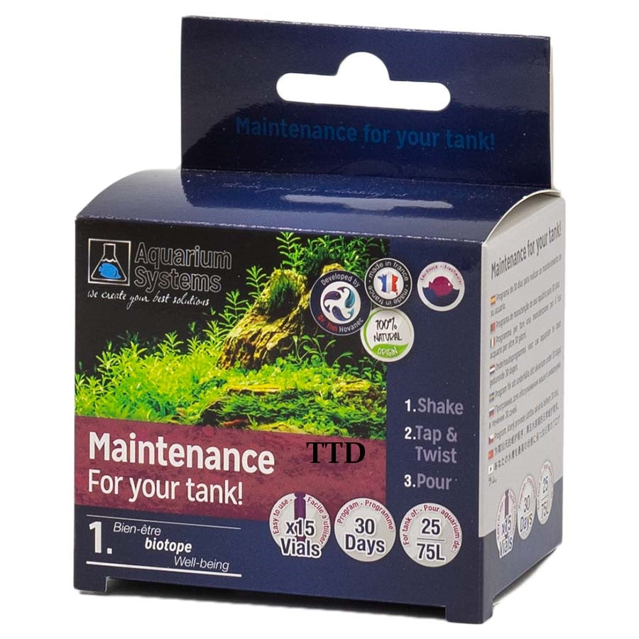 Aquarium Systems Maintain Your Tank 75l Freshwater Unidose