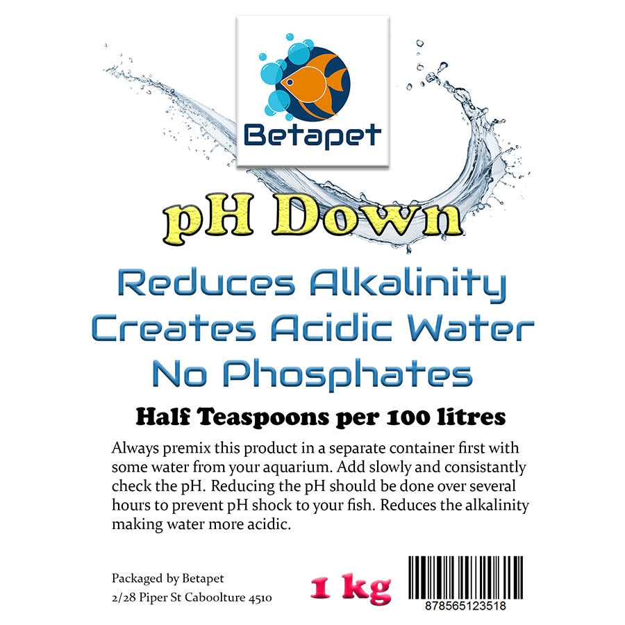 Betapet Ph Down 1Kg - no Phosphates