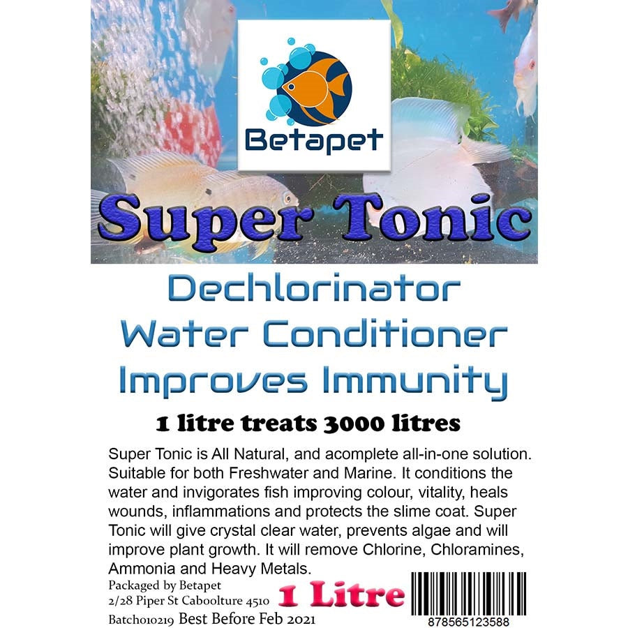Betapet Super Tonic 1 Litre All-In-One Water Conditioner