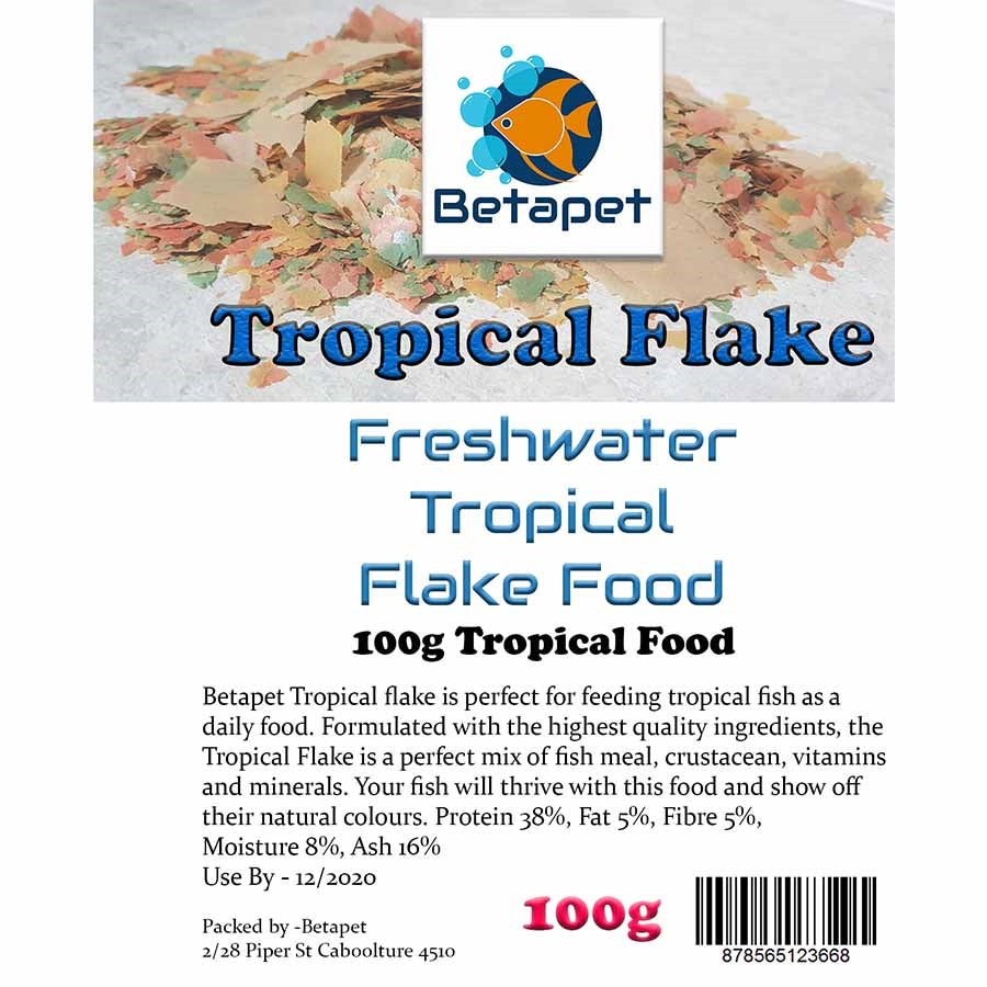 Betapet 100g Tropical Flake Fish Food