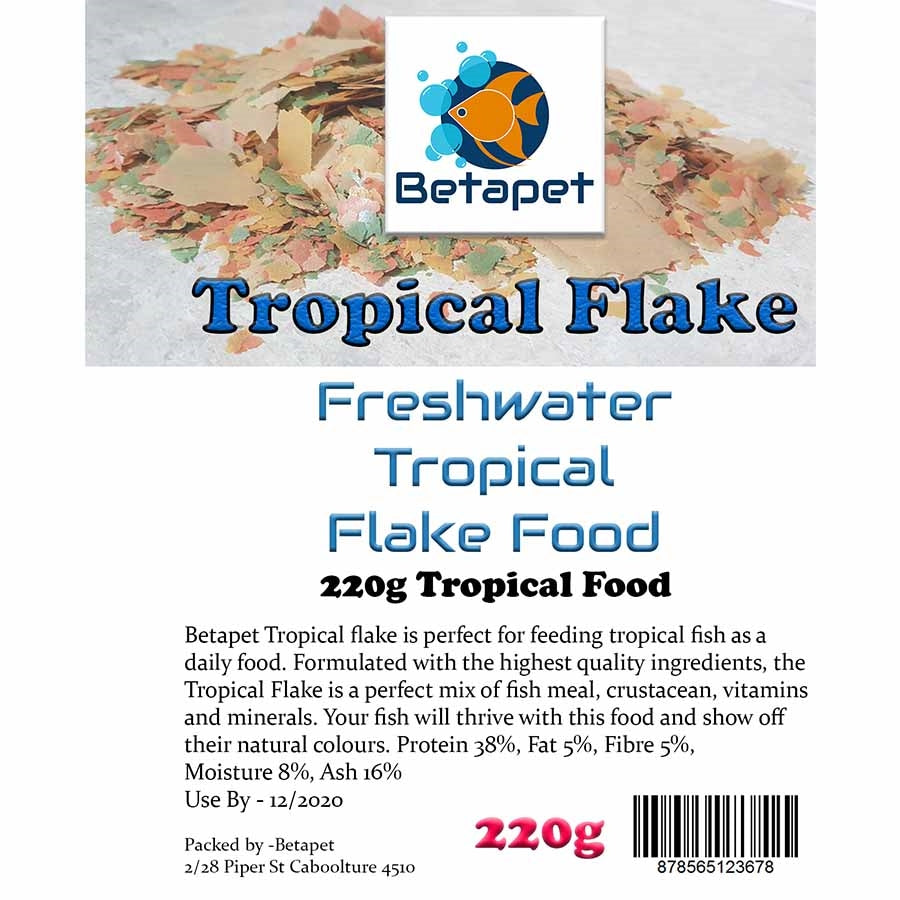 Betapet 220g Tropical Flake Fish Food