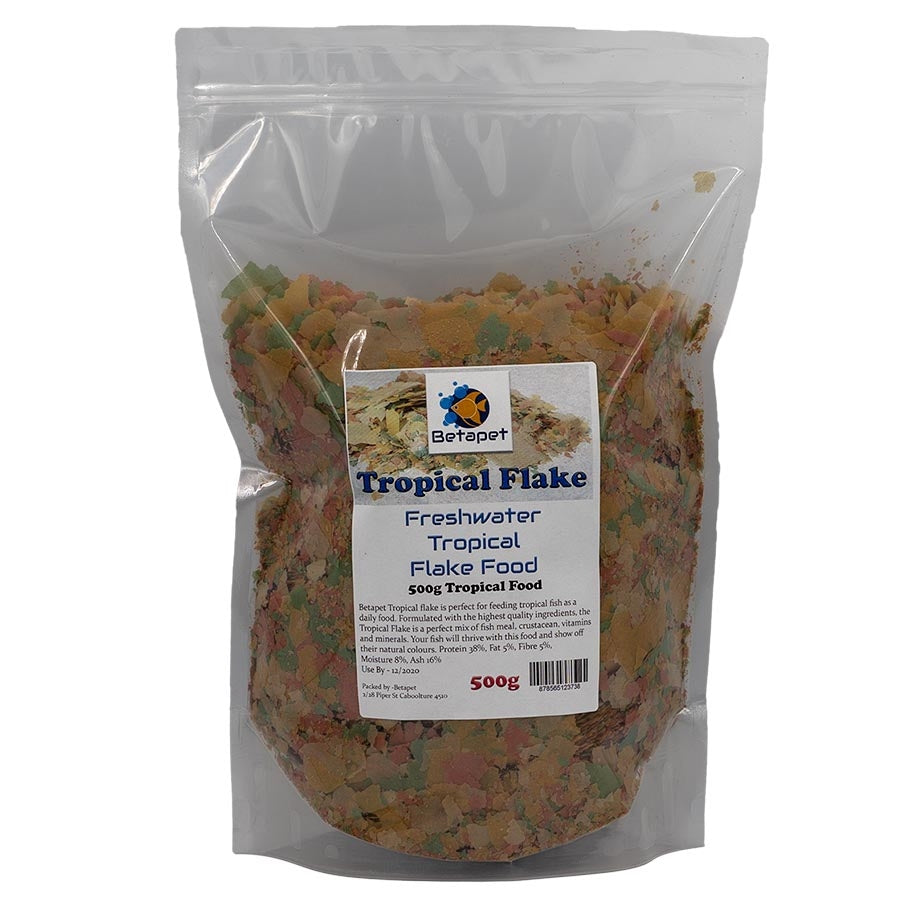 Betapet 500g Tropical Flake Fish Food