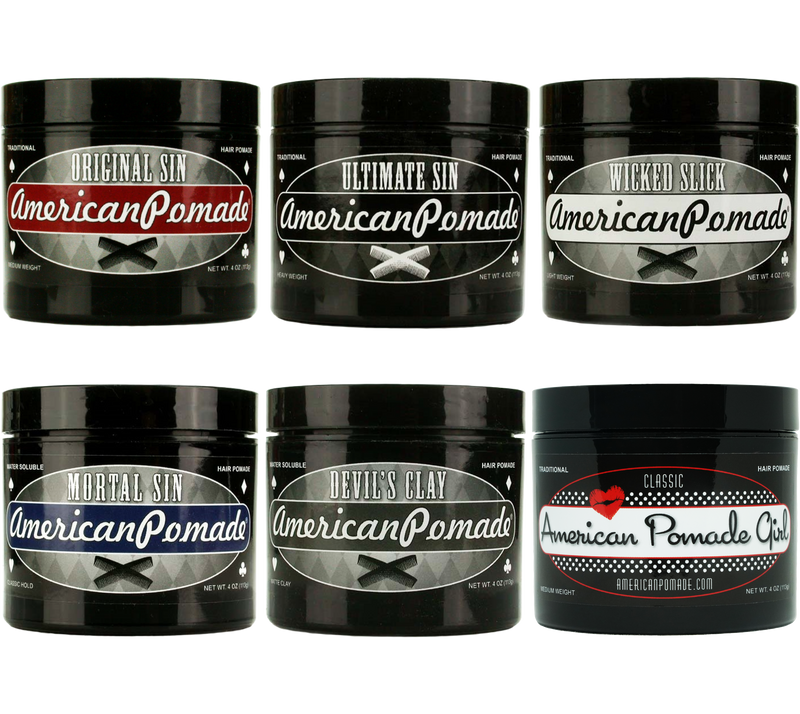 American Pomade Sample Pack (for wholesale inquiries) 6 pomades