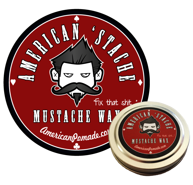 American 'Stache Mustache Wax (wholesale) 5 tins