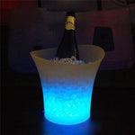 5L Waterproof  LED  Ice Bucket Champagne Beer