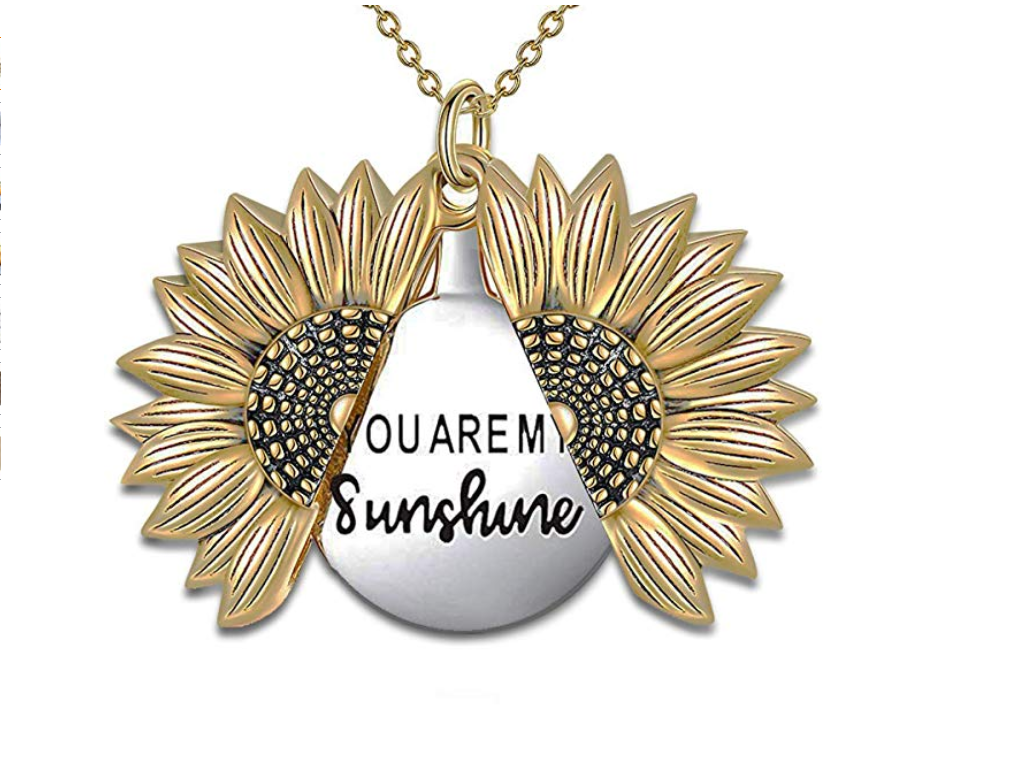 Sunflower Necklace You Are My Sunshine