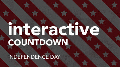 Interactive Countdown - Independence Day