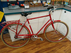 "Used Public C1 21"" Red with fenders and rack"