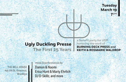 BENEFIT TICKETS: UGLY DUCKLING PRESSE: The First 25 Years
