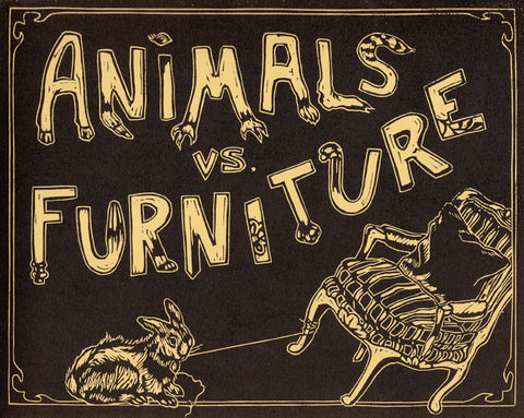 ANIMALS vs. FURNITURE by Normandy Sherwood; Illustrations by Jesse Hawley
