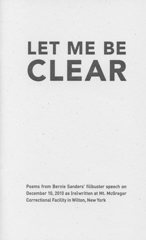 LET ME BE CLEAR, edited by Cara Benson