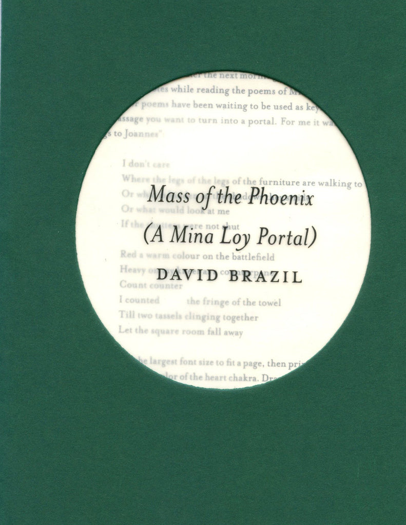 MASS OF THE PHOENIX by David Brazil (Trafficker Press)
