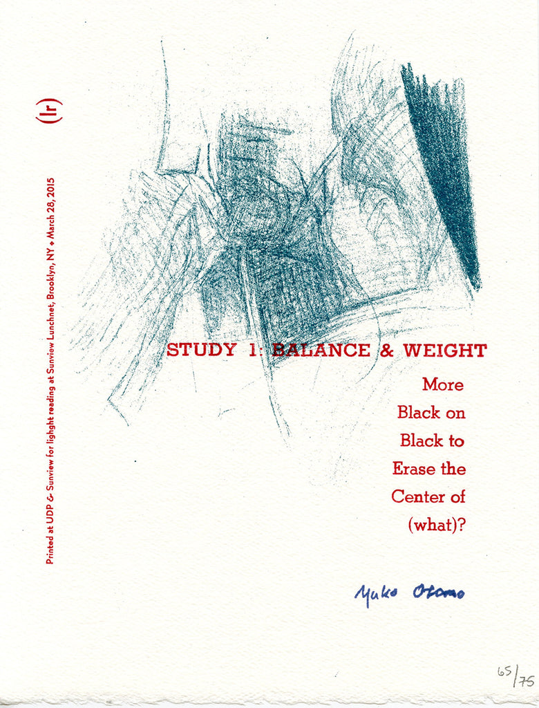 STUDY 1: BALANCE & WEIGHT by Yuko Otomo (broadside)