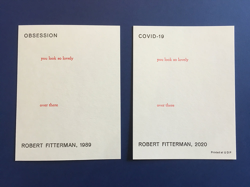 OBSESSION / COVID-19 by Robert Fitterman