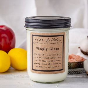 1803 Candles: Simply Clean 14oz Jar Candle