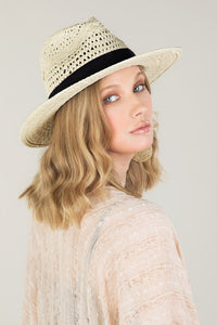 Boho Chic Summer Panama Hat, Natural