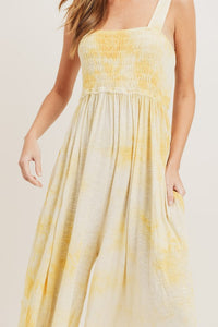 Tie Dye Homecoming Jumpsuit, Yellow