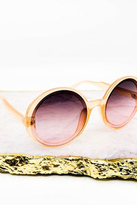 Large Round Plastic Frame Fashion Sunglasses
