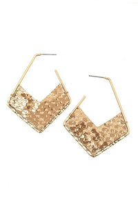 Scaly Accent Drop Earrings, Taupe