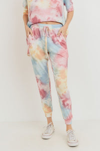 Mini Thermal Tie Dye Pocket Joggers, Multi