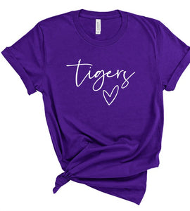 *PREORDER*: TIGERS Heart Gameday Tee XS-3X, (2 Colors)