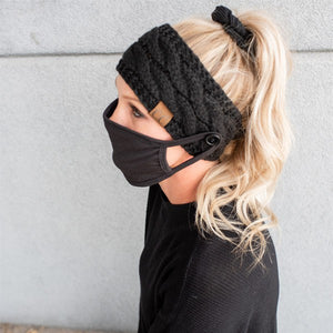 CC Head Wrap with Mask Buttons (4 Color Options)