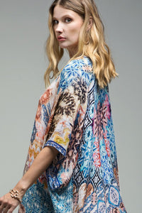 Wanderlust Watercolor Kimono (One Size), Multi