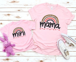 *PREORDER*: MOMMY & ME Rainbow Mini Tee YOUTH S-XL, (3 Colors)