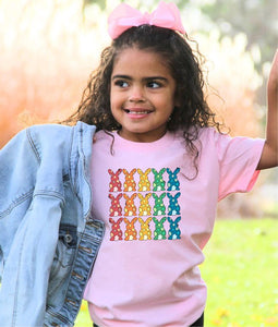 *PREORDER*: MOMMY & ME Colorful Easter Bunny Tee YOUTH S-XL, (3 Colors)