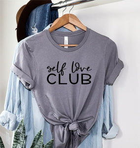 *PREORDER*: Self Love Club Graphic Tee XS-3X, (3 Colors)