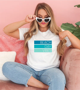 *PREORDER*: Beach Day Vibes Graphic Tee XS-3X, (3 Colors)