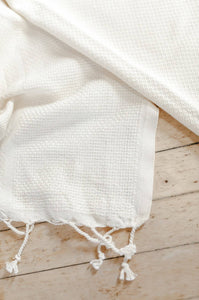Happily Ever After Lightweight Throw Blanket, Grey-Striped Natural