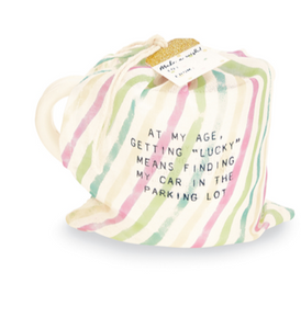 Funny Sentiment Debossed Birthday Mug in Bag